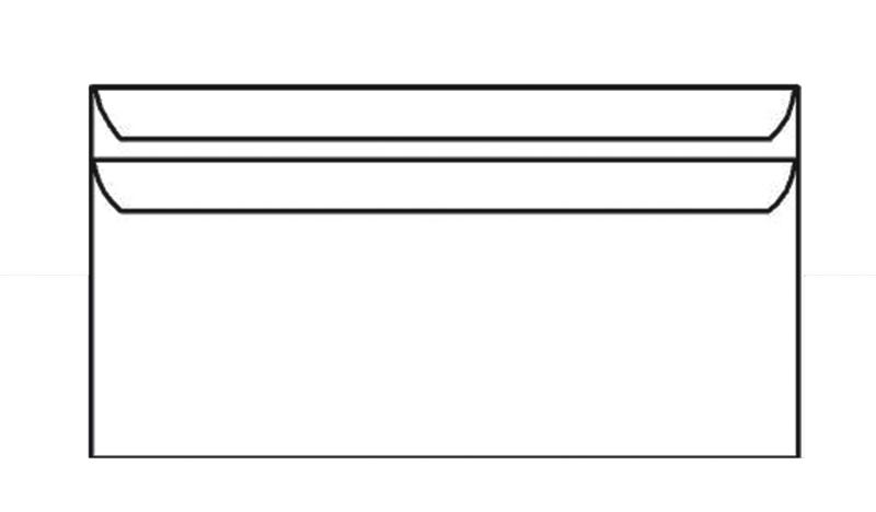 PLIC DL 80G 110X220 MM AUTOADEZIV CUTIE 1000 ALB