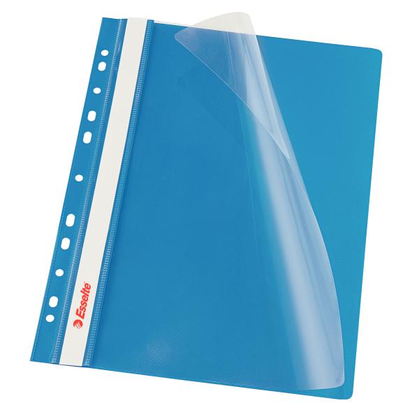 Dosar PP, cu sina si multiperforatii, ESSELTE Vivida, A4, 10 buc/set - albastru