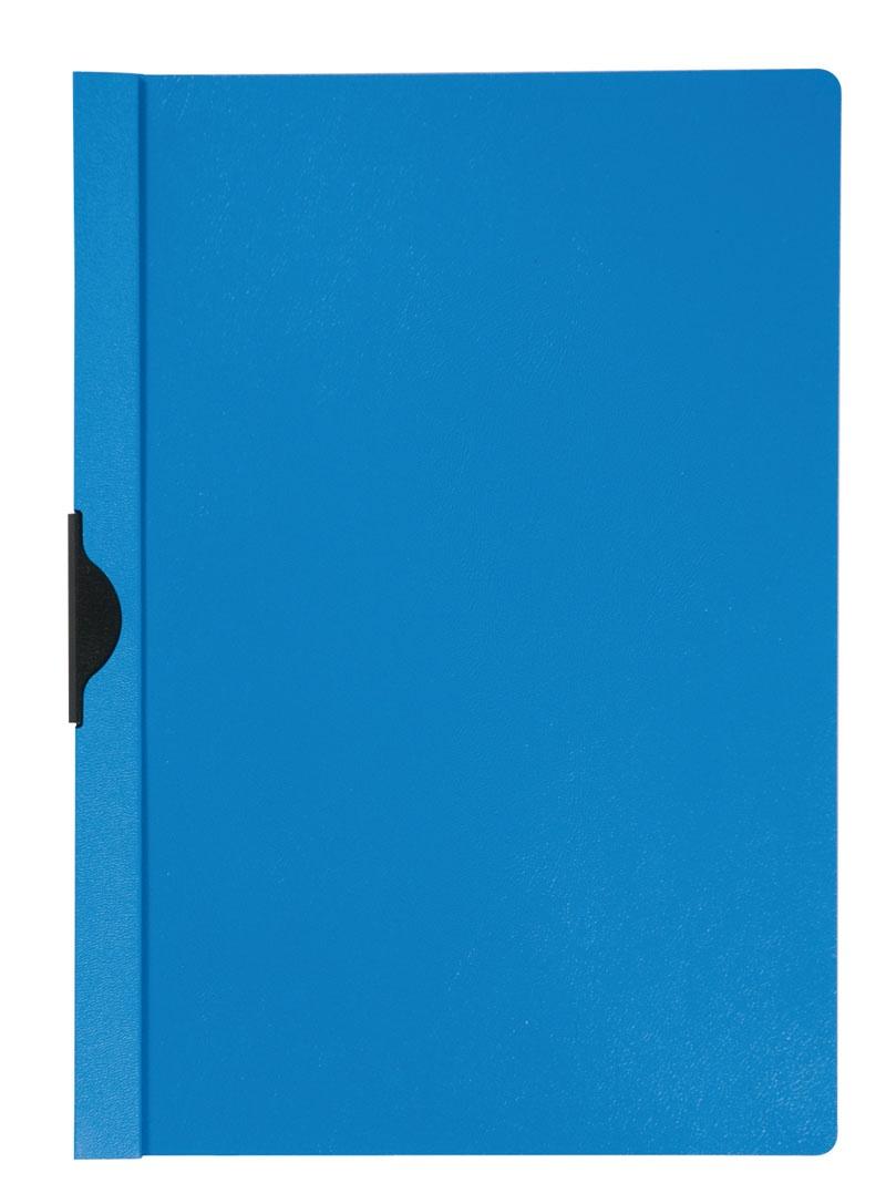 Dosar din plastic cu clema metalica Q-Connect - albastru