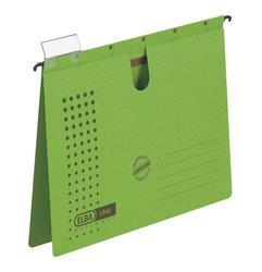 Dosar suspendabil cu sina, carton 230g/mp, bagheta metalica, ELBA Chic - verde