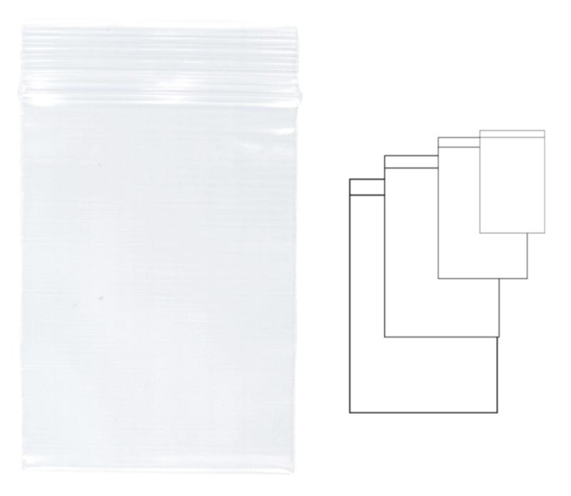 Pungi plastic cu fermoar pentru sigilare, 230 x 320 mm, 100 buc/set, KANGARO - transparente