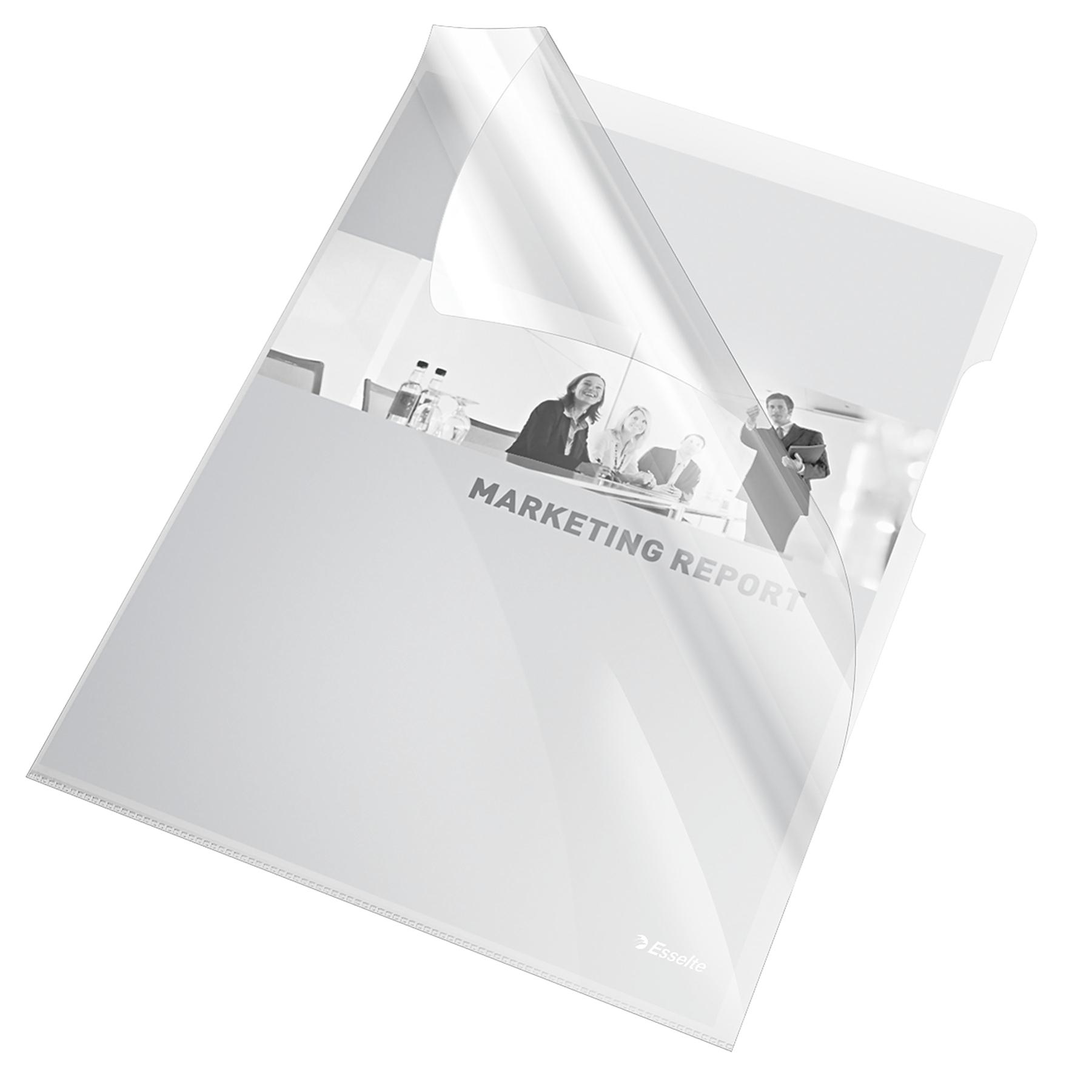 Mapa de protectie ESSELTE, A4, cristal, 150 microni, 25 buc/set - transparent