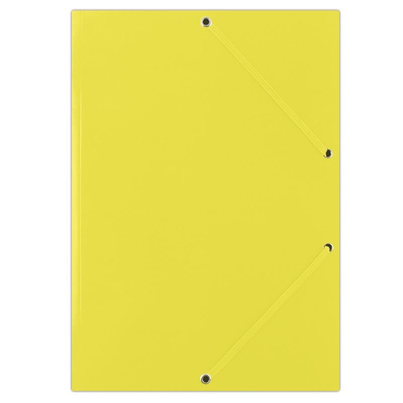 Mapa din carton plastifiat, cu elastic pe colturi, 400gsm, DONAU - galben