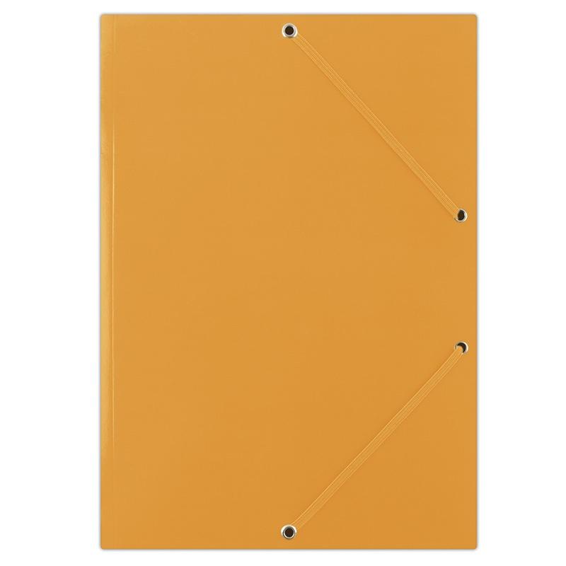 Mapa din carton plastifiat, cu elastic pe colturi, 400gsm, DONAU - portocaliu