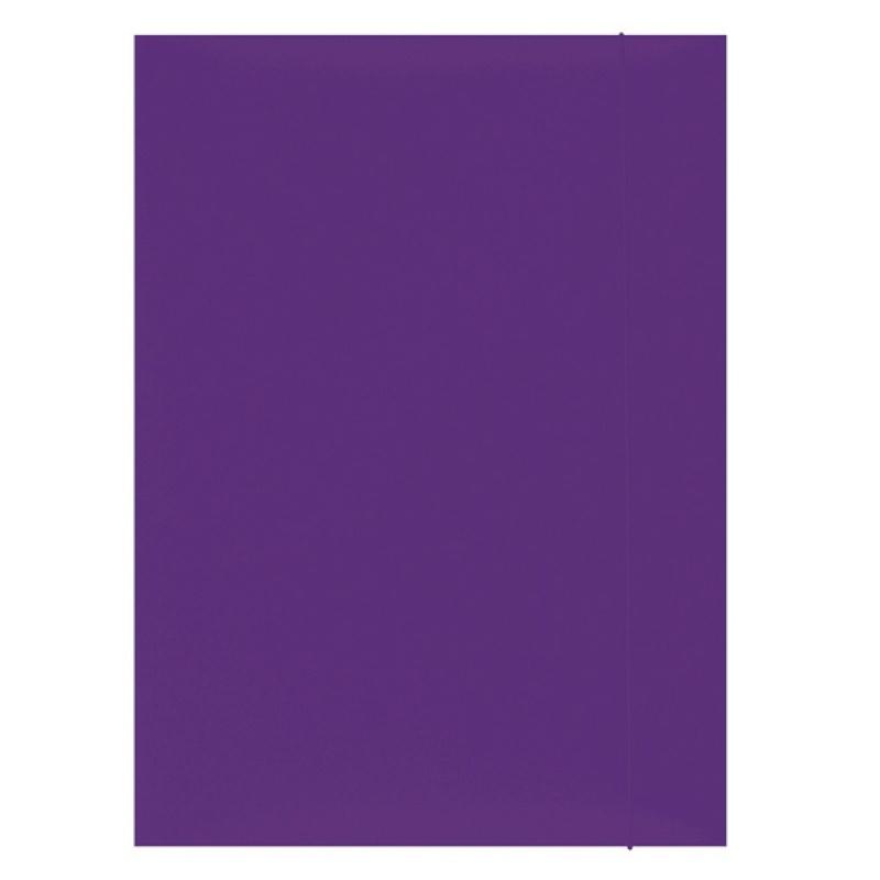 Mapa din carton plastifiat cu elastic, 300gsm, Office Products - violet