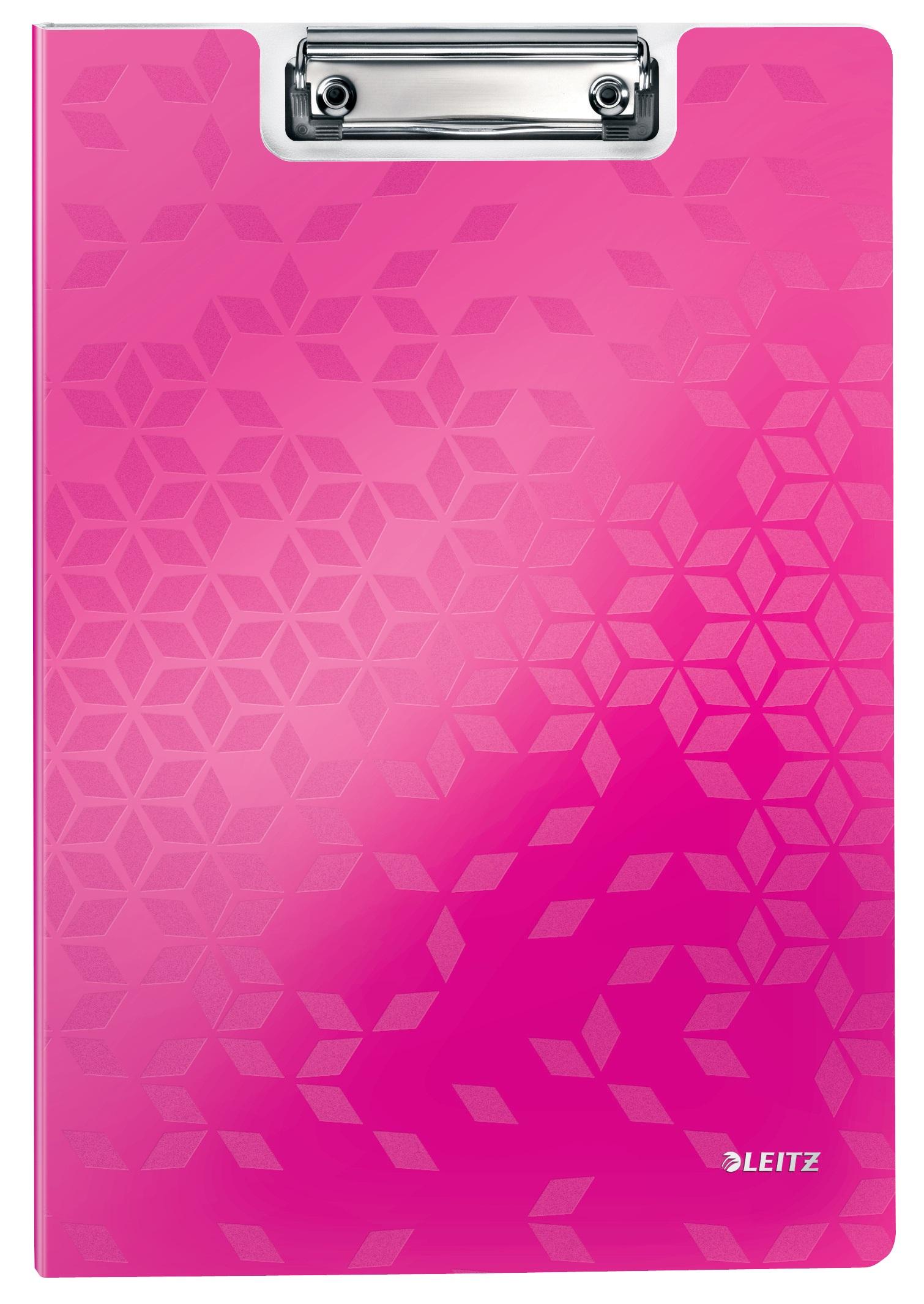 Clipboard dublu LEITZ Wow, PP - roz metalizat