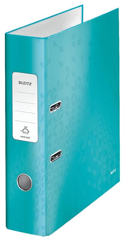 Biblioraft LEITZ 180 Wow, A4, 85mm, carton laminat - turcoaz metalizat