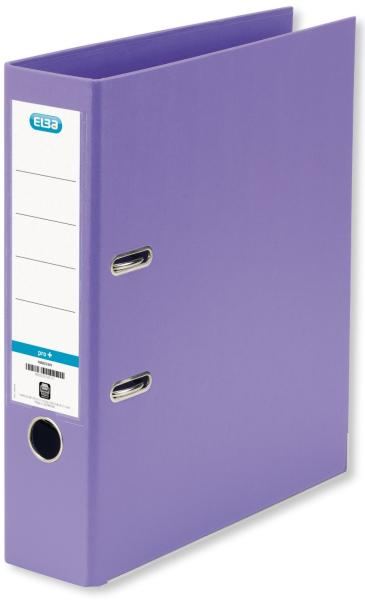 Biblioraft A4, plastifiat PP/PP, margine metalica, 80 mm, ELBA Smart Pro+ - violet