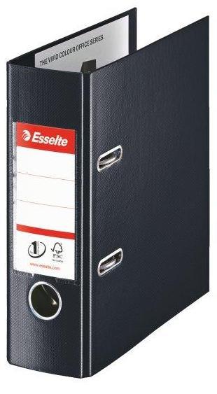 Biblioraft ESSELTE No. 1 Power, A5, plastifiat PP/PP, margine metalica, 75 mm - Vivida negru