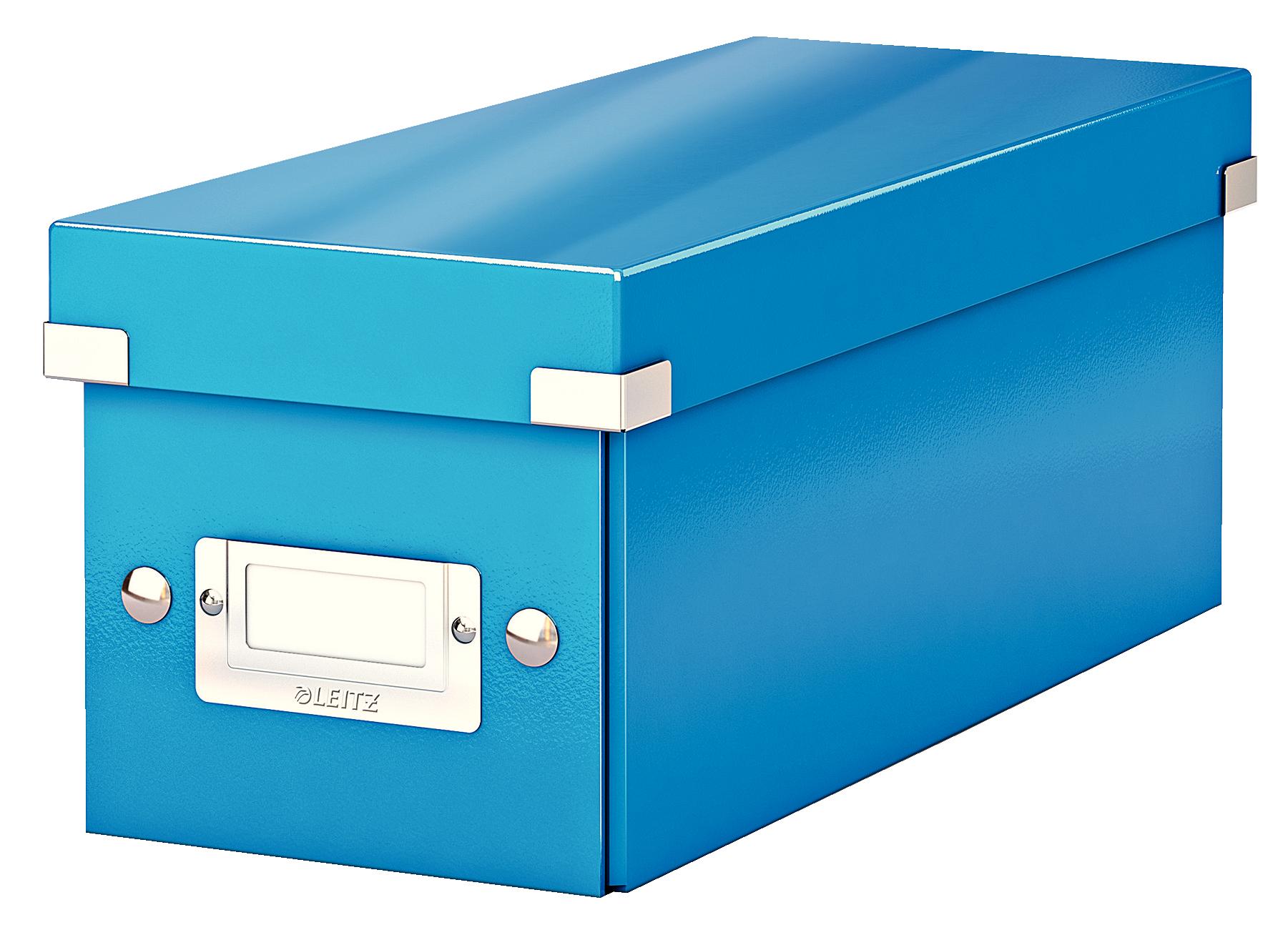 Cutie pentru 30/60 CD-uri, LEITZ Click & Store, carton laminat - albastru