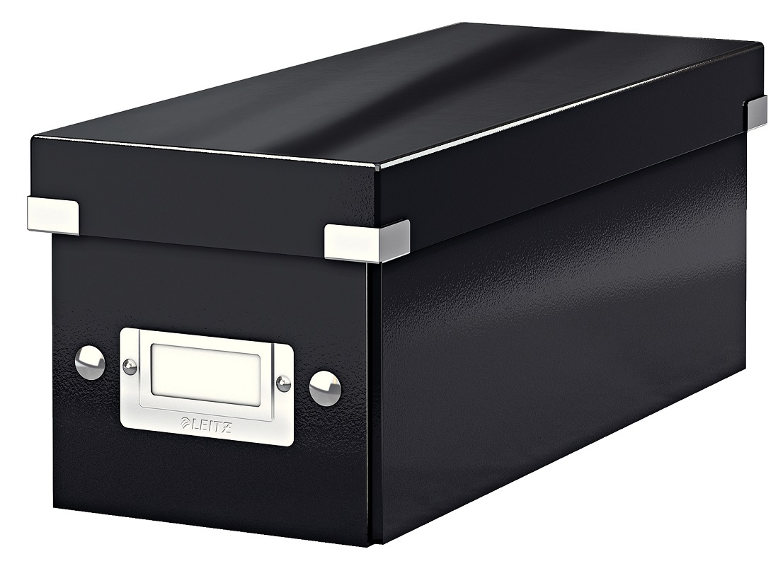 Cutie pentru 30/60 CD-uri, LEITZ Click & Store, carton laminat - negru