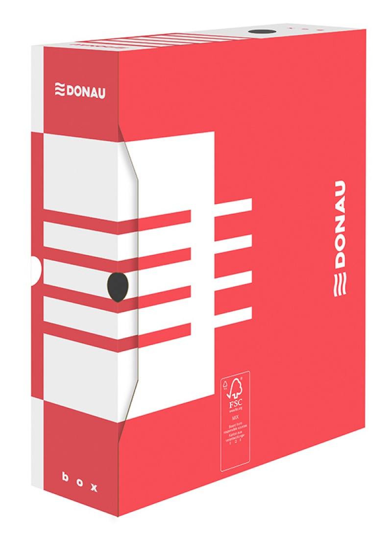 Cutie arhivare 100mm, DONAU - rosu