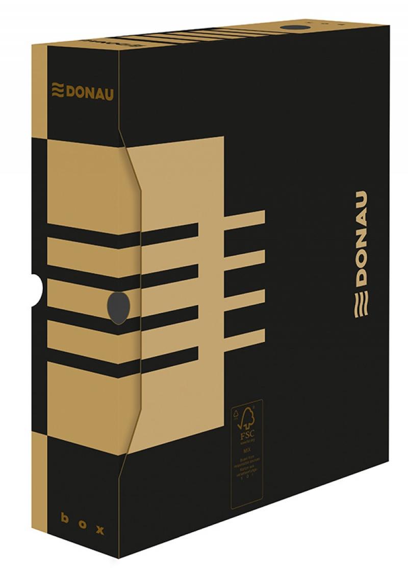 Cutie arhivare  80mm, DONAU - maro
