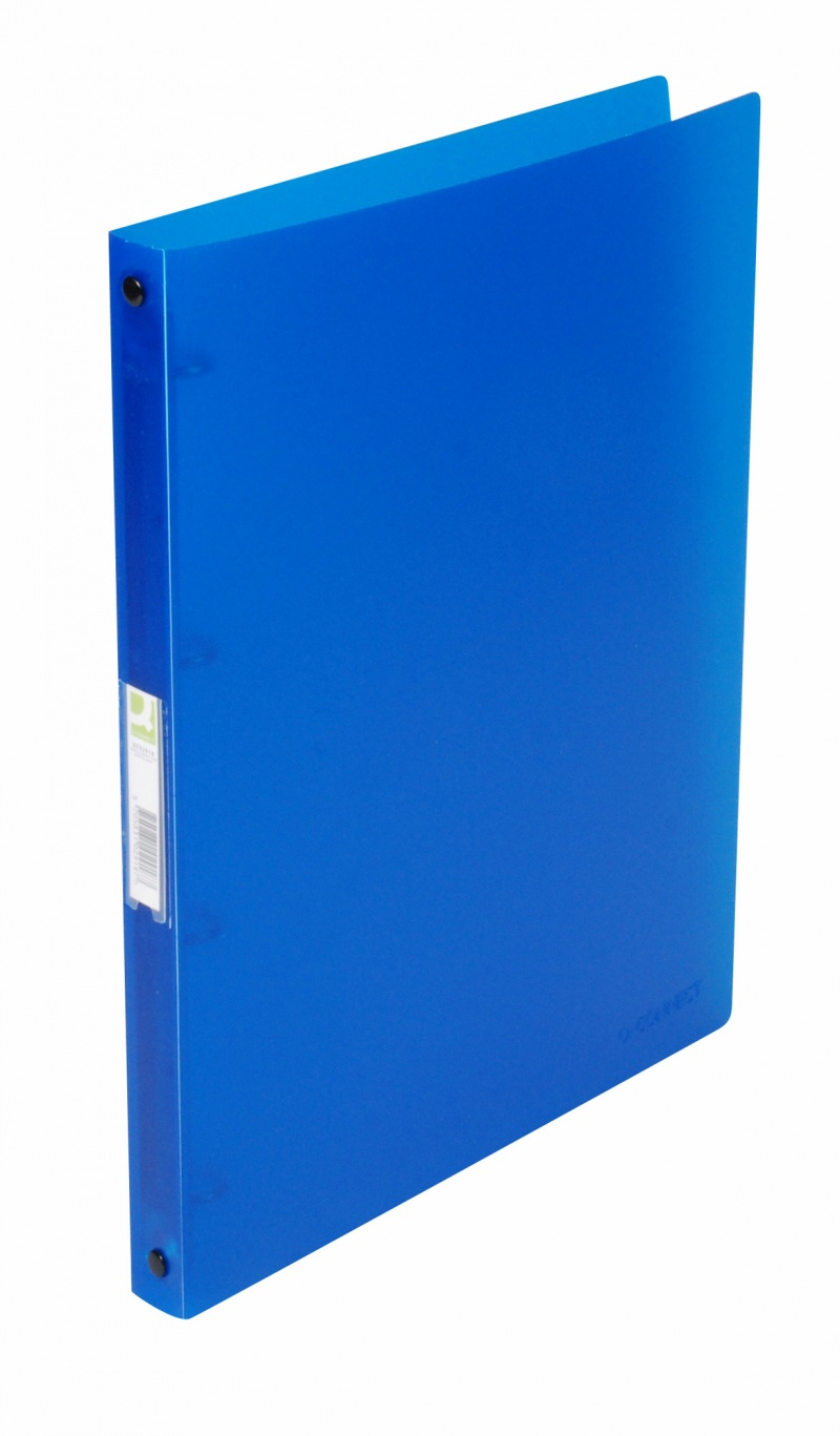 Caiet mecanic 4 inele - D16mm, coperti flexibile PP, Q-Connect - albastru transparent