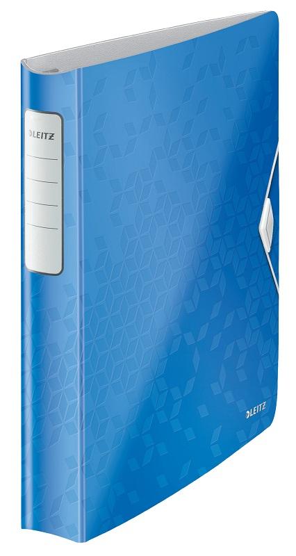 Caiet mecanic LEITZ Active Wow SoftClick, mecanism 4DR, inel 30mm, polyfoam - albastru metalizat