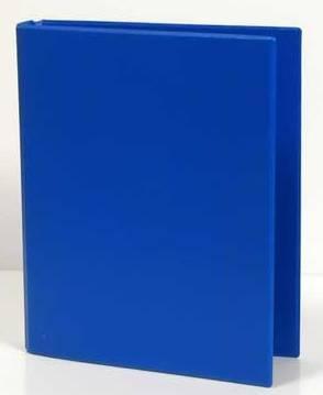 Caiet mecanic 2 inele - D25mm, coperti carton plastifiat PVC, A5, AURORA - albastru