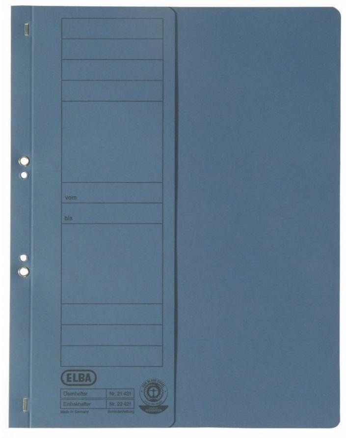 Dosar carton cu capse 1/2  ELBA - albastru