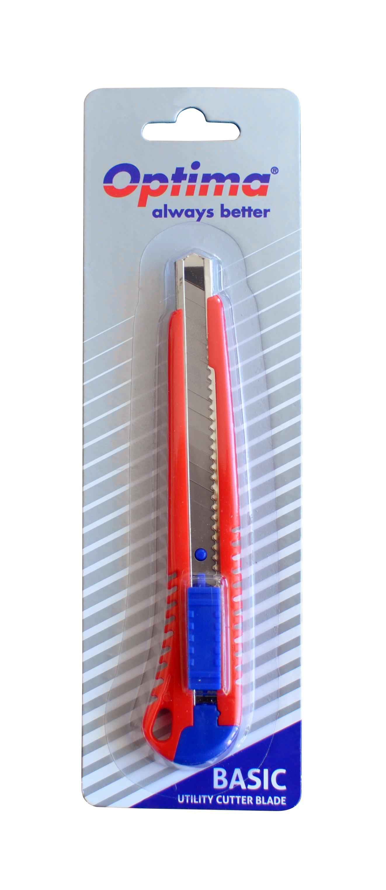 Cutter basic Optima, lama  9mm SK7, sina metalica, ABS