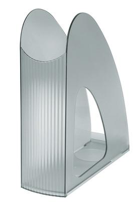 Suport vertical plastic pentru cataloage HAN Twin - transparent gri