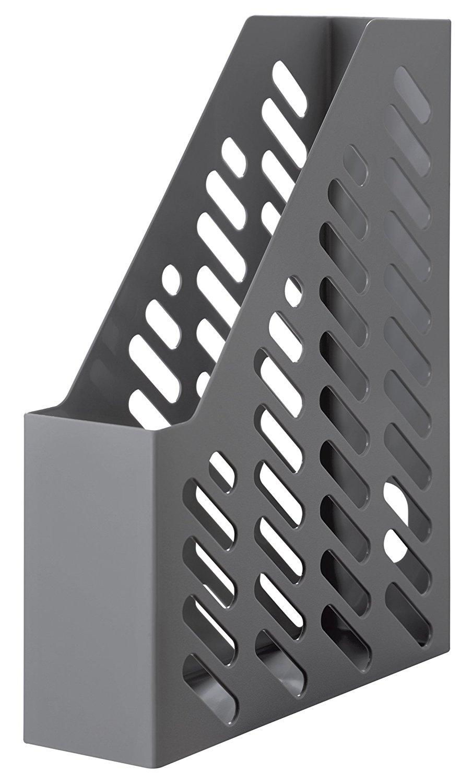 Suport vertical plastic pentru cataloage HAN Klassik - gri inchis