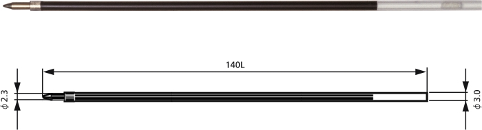 Rezerva PENAC BR140, 2 buc/set, 1.6mm, pentru CH6, Soft Glider+, Stick ball - albastru