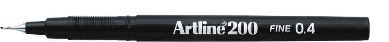 Liner ARTLINE 200, varf fetru 0.4mm - negru