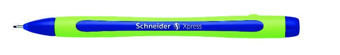 Liner SCHNEIDER Xpress, rubber grip, varf fetru 0.8mm - albastru