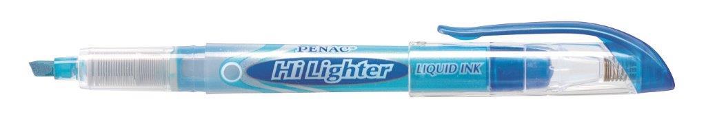 Textmarker cu cerneala PENAC Liqliner, varf 1-4 mm - albastru