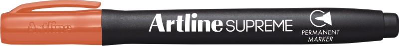 Permanent marker ARTLINE Supreme, corp plastic, varf rotund 1.0mm - portocaliu