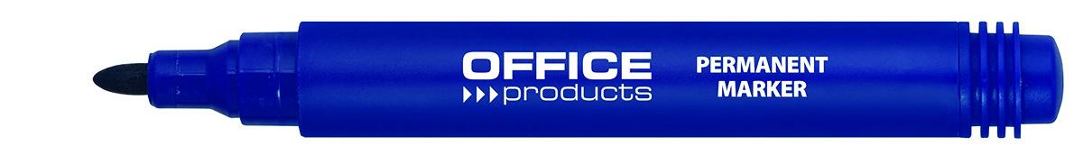 Permanent marker, varf rotund, corp plastic, Office Products - albastru