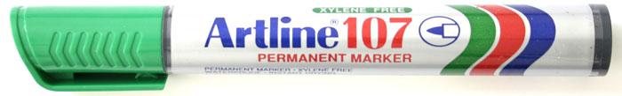 Permanent marker ARTLINE 107, corp plastic, varf rotund 1.5mm - verde