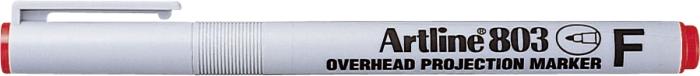 OHP Non-Permanent marker ARTLINE 803, varf fin - 0.5mm - rosu