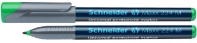 Universal permanent marker SCHNEIDER Maxx 224 M, varf 1mm - verde