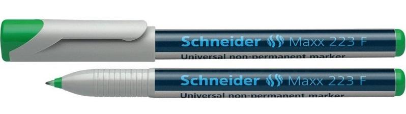 Universal non-permanent marker SCHNEIDER Maxx 223 F, varf 0.7mm - verde