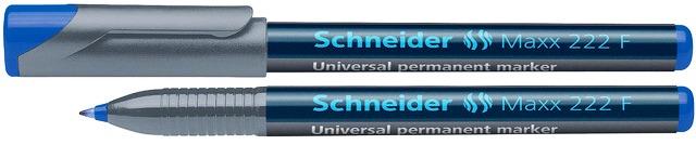 Universal permanent marker SCHNEIDER Maxx 222 F, varf 0.7mm - albastru