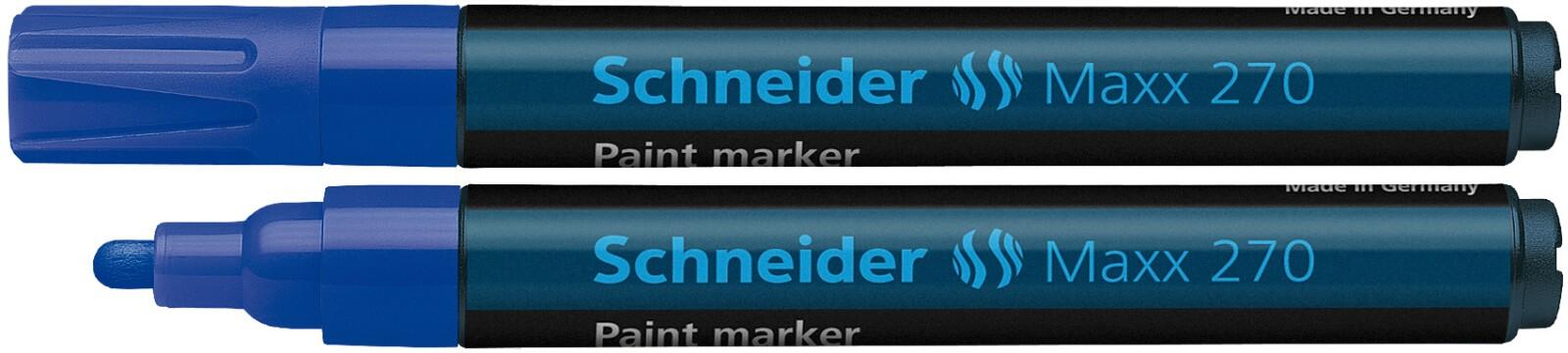 Marker cu vopsea SCHNEIDER Maxx 270, varf rotund 1-3mm - albastru