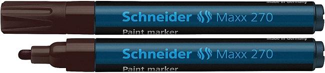 Marker cu vopsea SCHNEIDER Maxx 270, varf rotund 1-3mm - maro