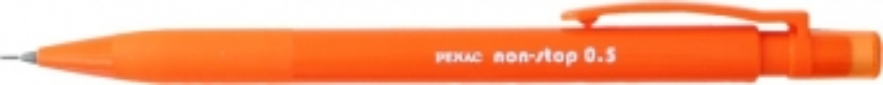 Creion mecanic PENAC Non-Stop, rubber grip, 0.5mm, varf plastic - corp orange pastel