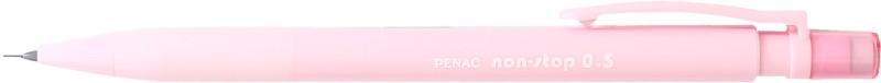 Creion mecanic PENAC Non-Stop, rubber grip, 0.5mm, varf plastic - corp roz pastel