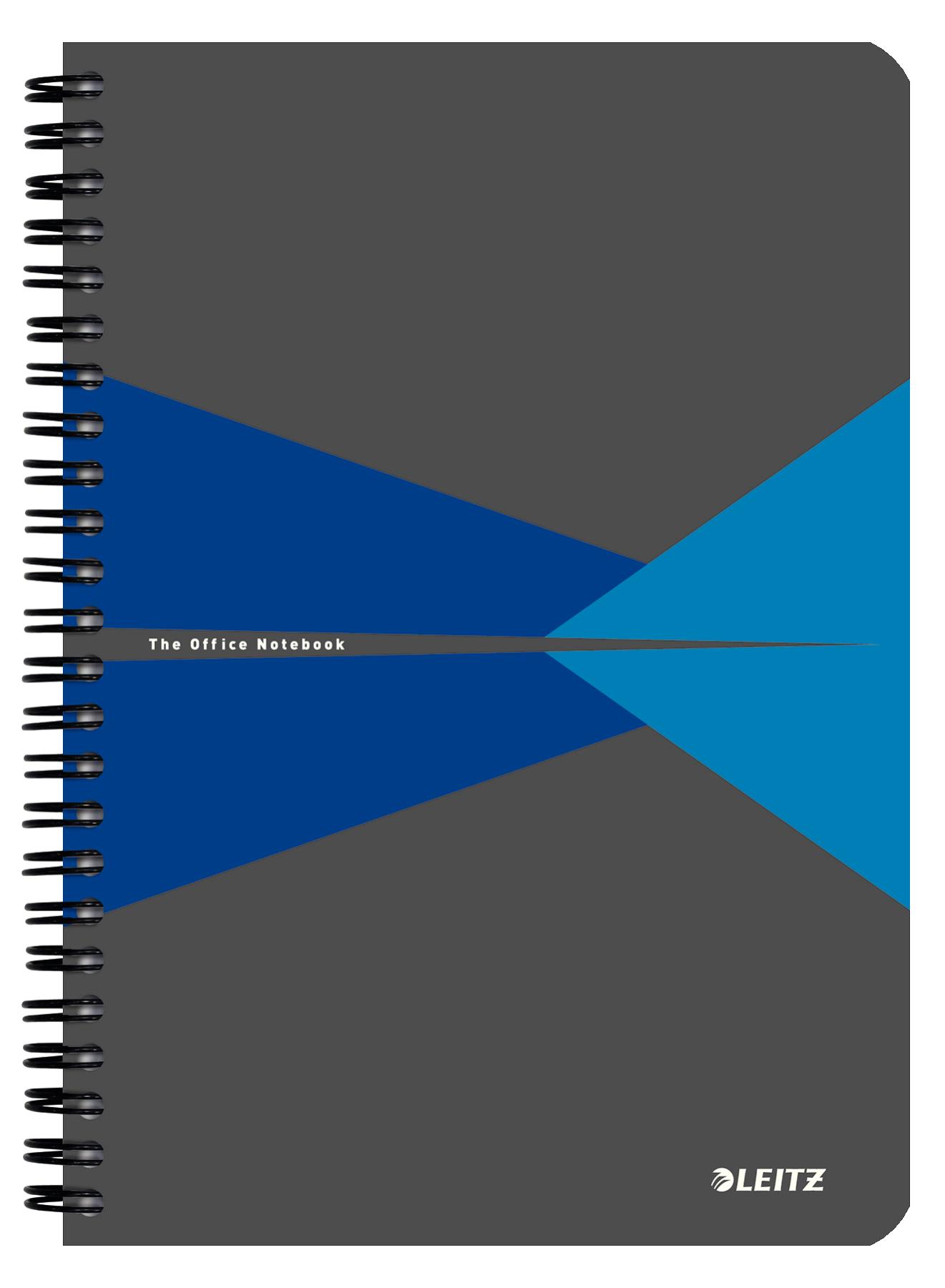 Caiet de birou LEITZ Office, carton, A5, cu spira, dictando - albastru