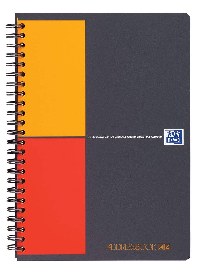 Caiet cu spirala A5, OXFORD International Addressbook, 72 file-80g/mp, coperta PP