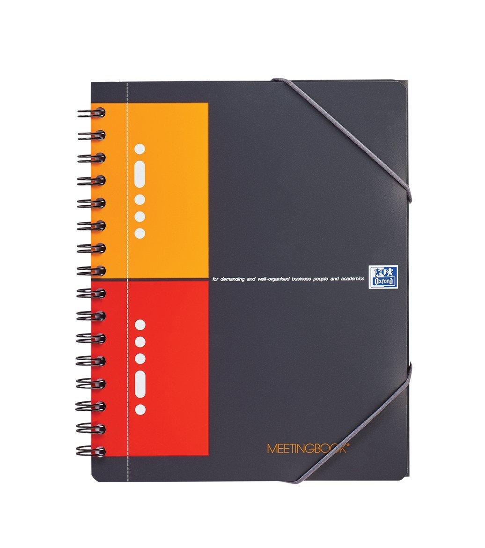 Caiet cu spirala A5+, OXFORD International Meetingbook, 80 file-80g/mp, 10 perf., coperta PP - mate