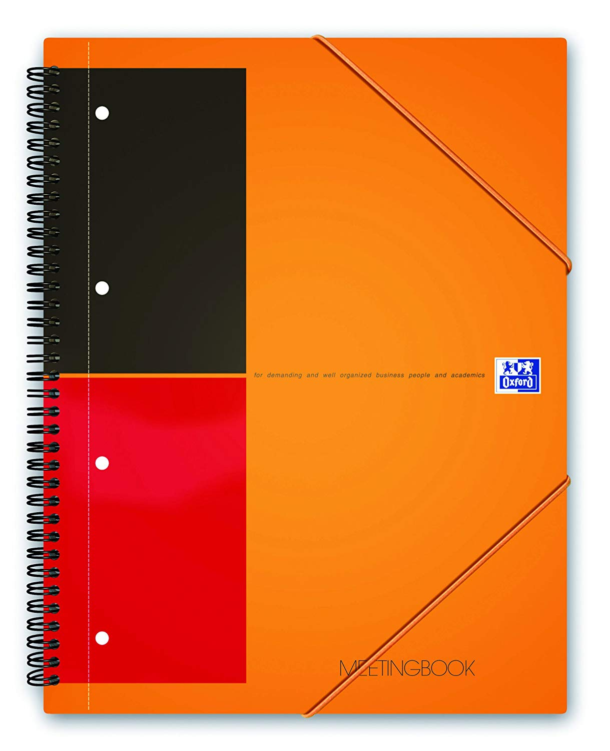 Caiet cu spirala A5+, OXFORD International Meetingbook, 80 file-80g/mp, 10 perf., coperta PP - dicta