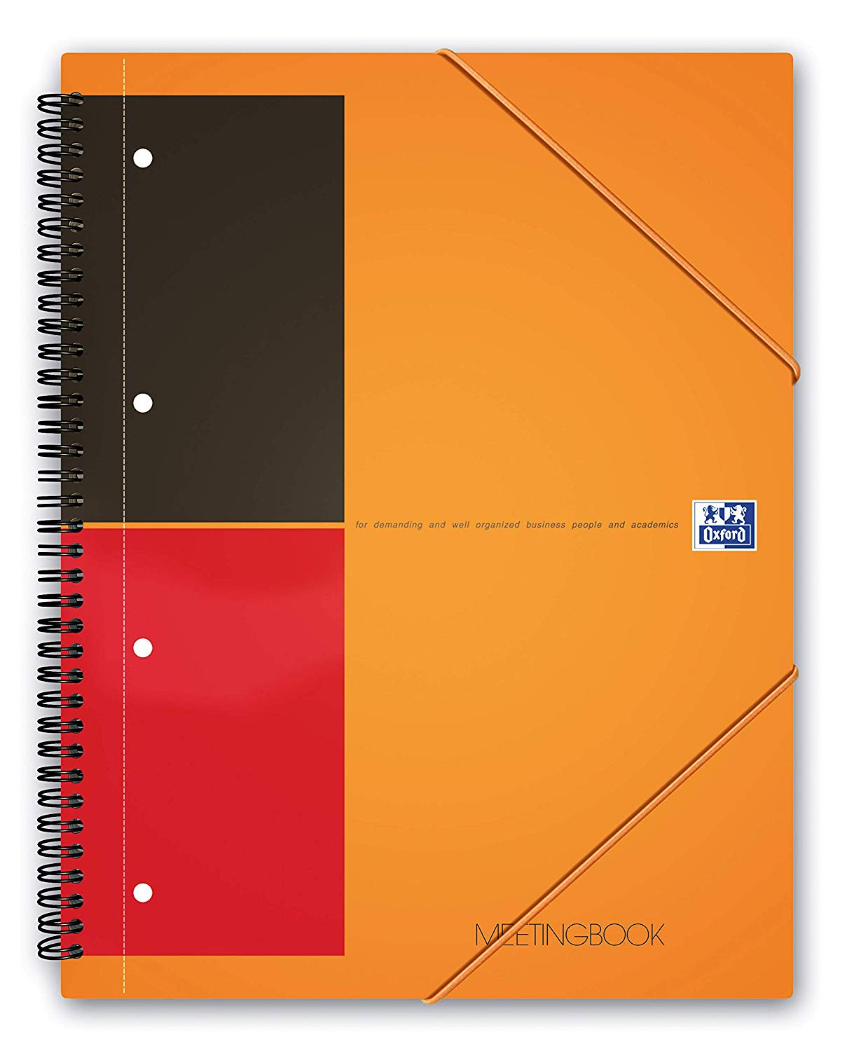 Caiet cu spirala A4+, OXFORD International Meetingbook, 80 file-80g/mp, 4 perf., coperta PP - dictan