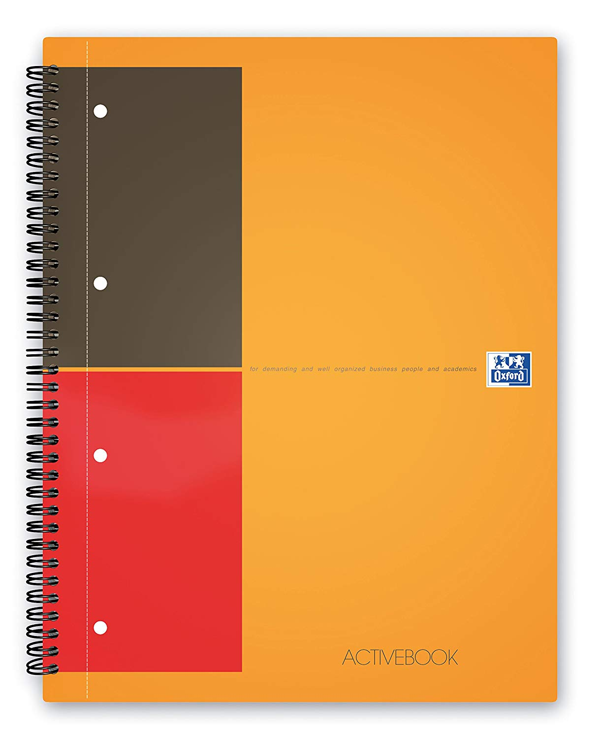 Caiet cu spirala A4+, OXFORD International Activebook, 80 file-80g/mp, 4 perf., coperta PP - dictand