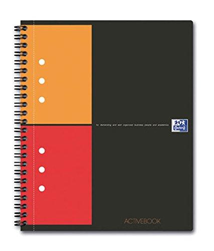 Caiet cu spirala A5+, OXFORD International Activebook, 80 file-80g/mp, 10 perf., coperta PP - mate