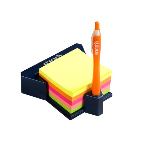Cub autoadeziv cu suport, 76 x 76 mm, 400 file, Stickn - 5 culori neon