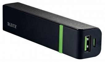 Baterie externa LEITZ Complete cu USB, 2.600 mAh - negru