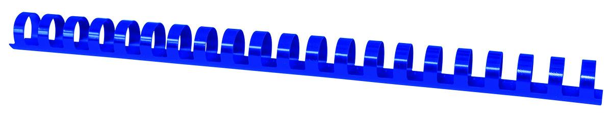 Inele plastic 16 mm, max 145 coli, 100buc/cut, Office Products - albastru