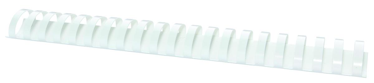 Inele plastic 38 mm, max 350 coli, 50buc/cut Office Products - alb